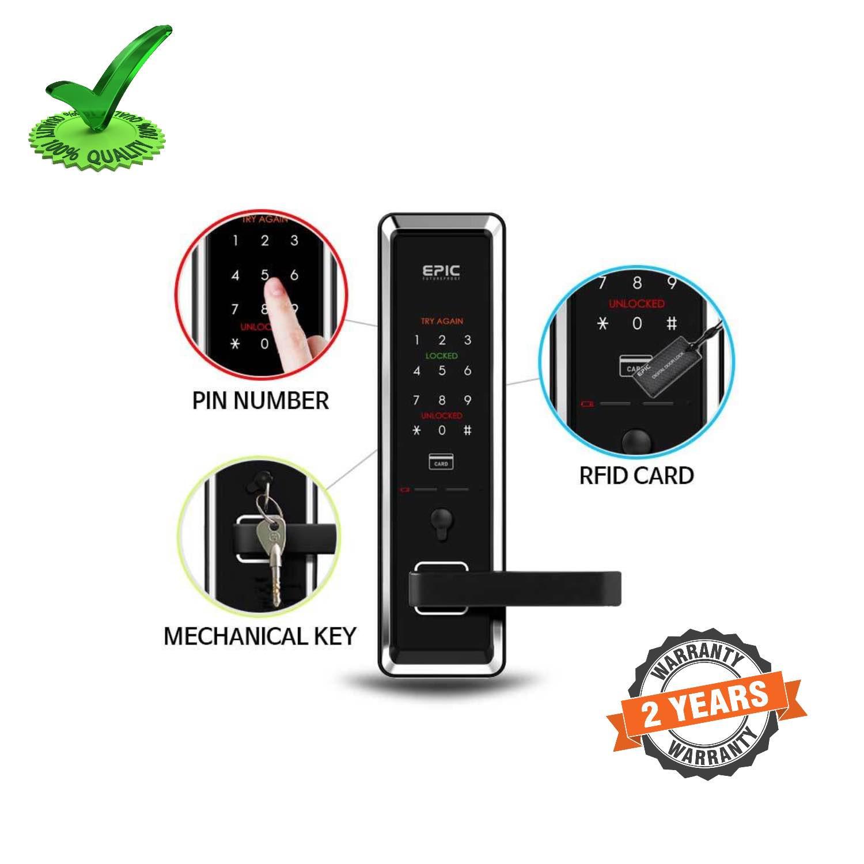 Epic ES-K70 RFID Card Pin Password Operated Digital Door Lock